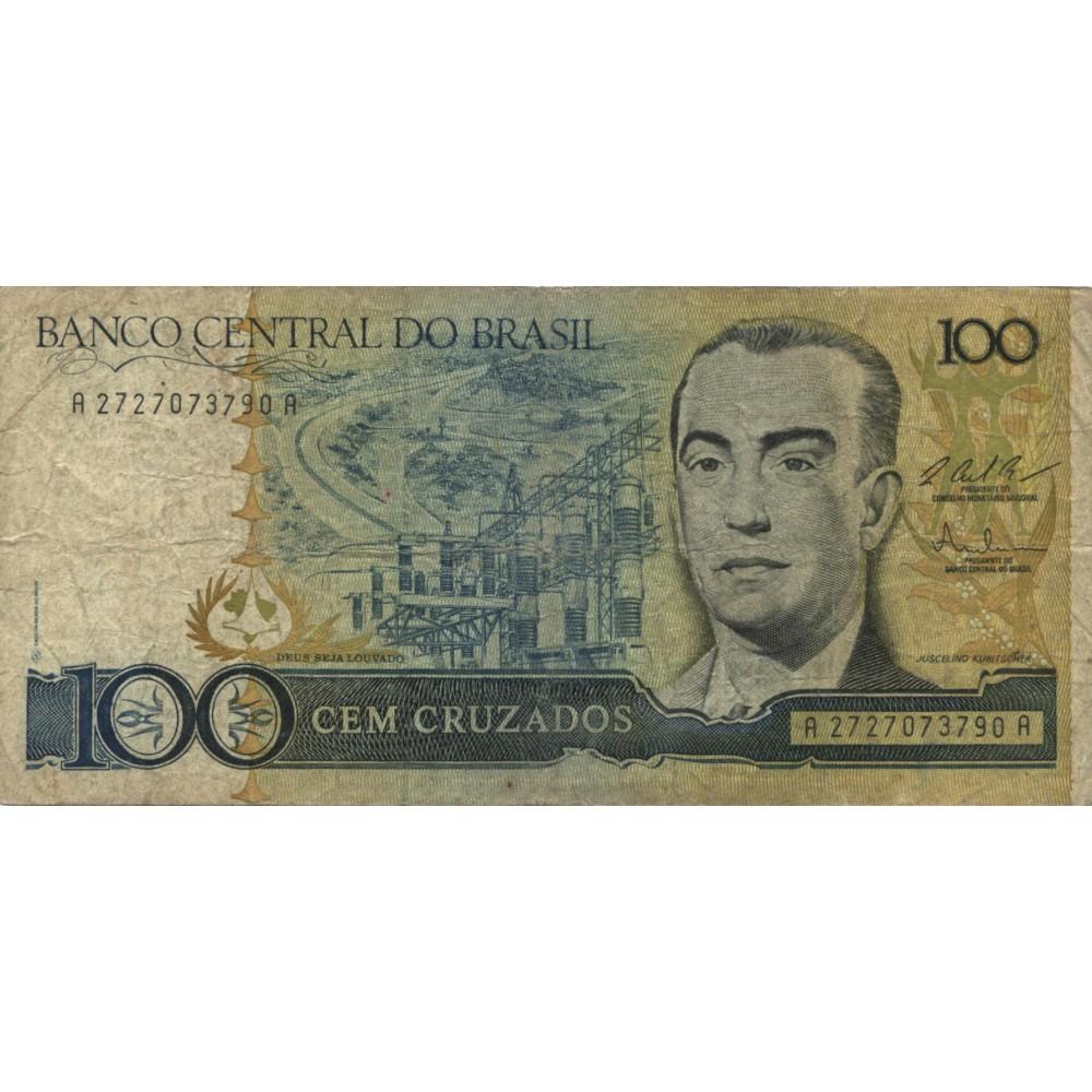100 крузадо 1987 г. Бразилия