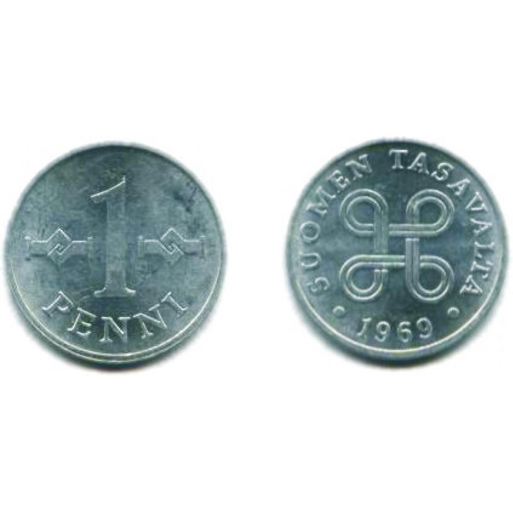 1 пенни 1969 г.