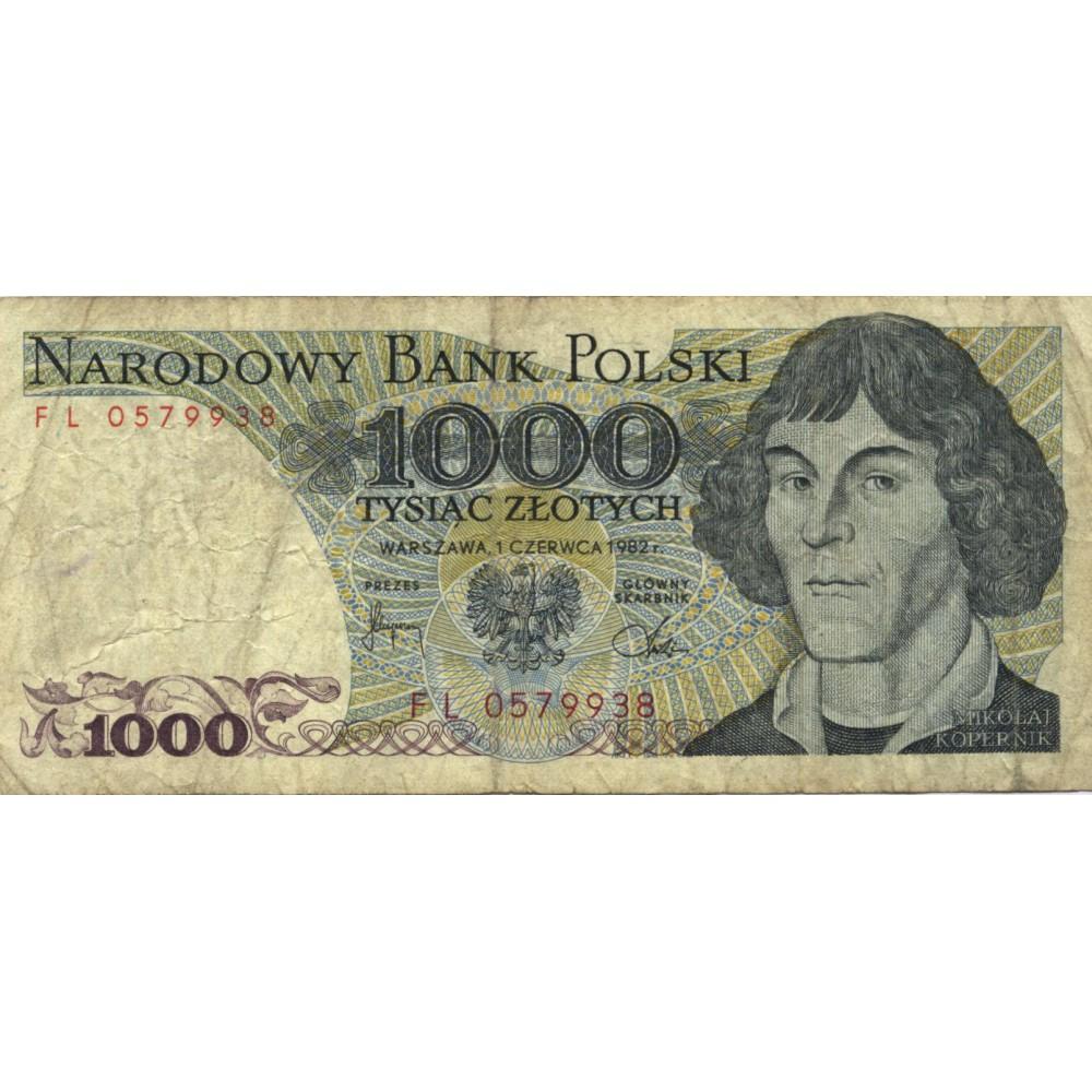 1000 злотых 1982 г. Польша