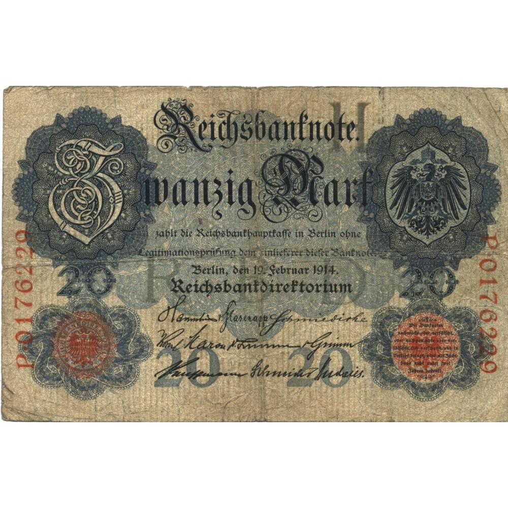 20 марок 1914 г. Германия