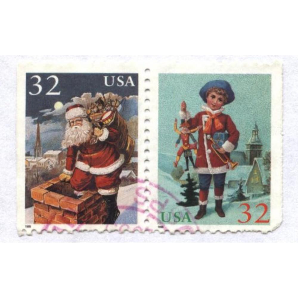 Сцепка марок 1995 г. США