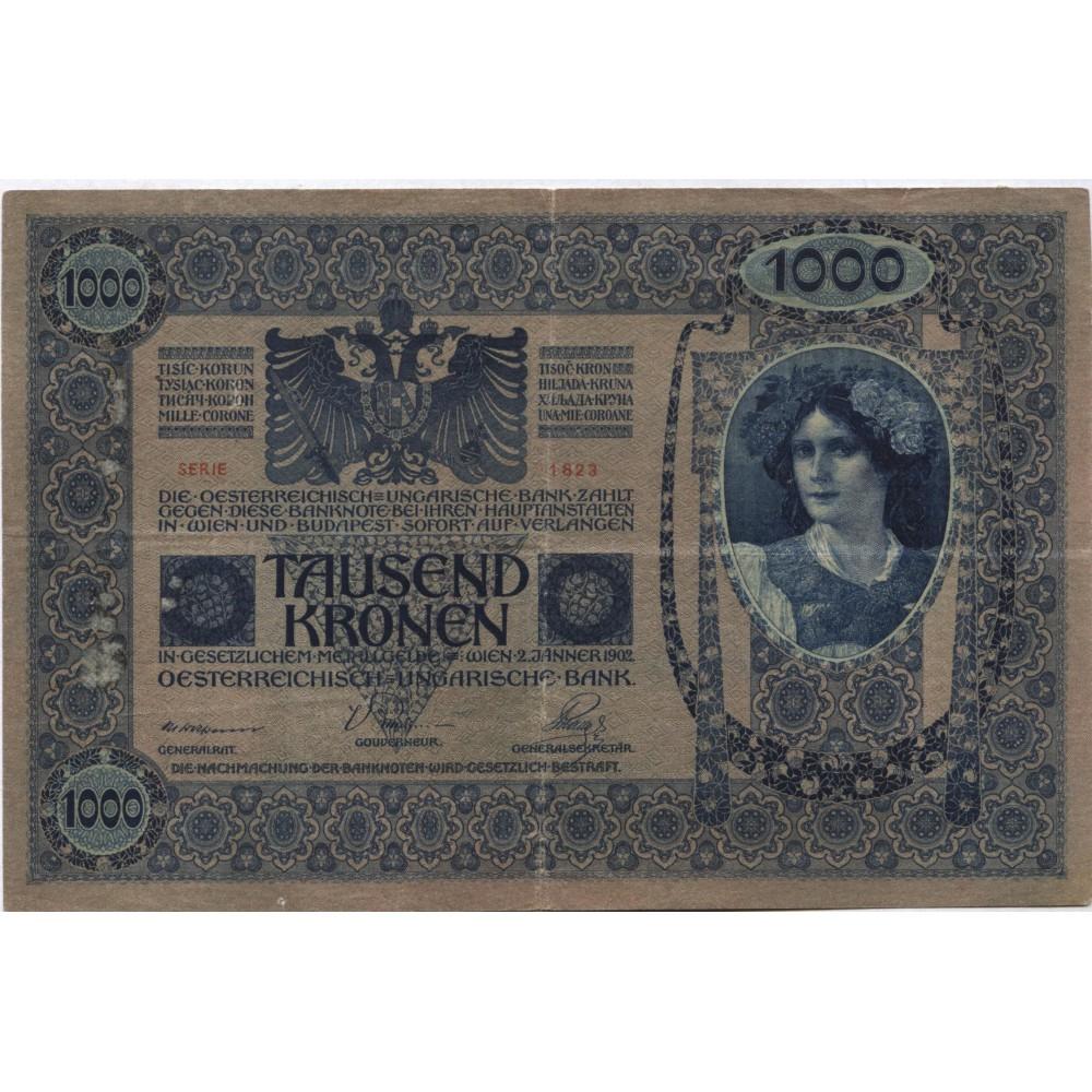 1000 крон 1902 г. Австро-Венгрия