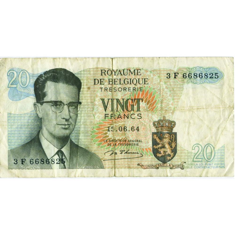 20 франков 1964 г. Бельгия