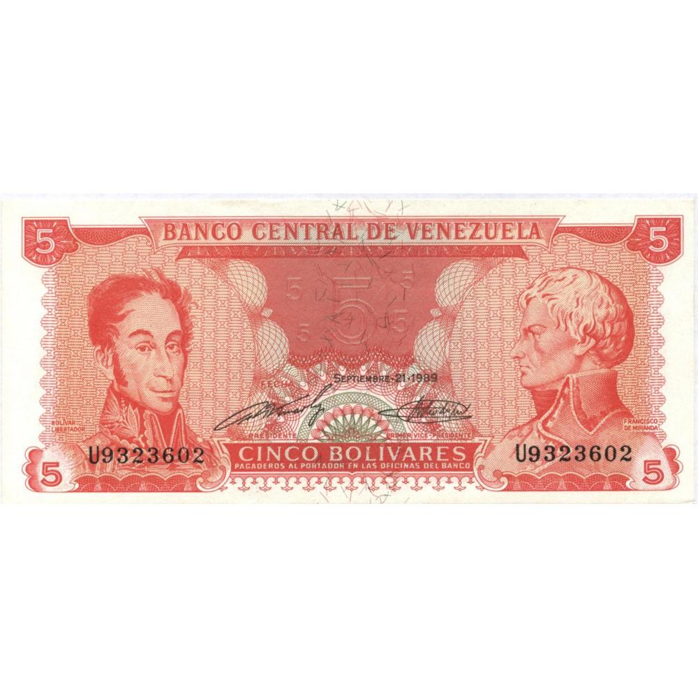 5 боливаров 1989 г. Венесуэла