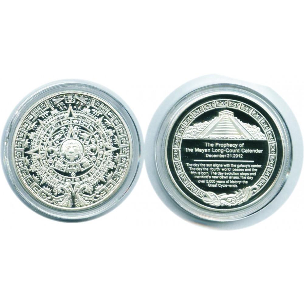 Сувенирная монета. Календарь Майя