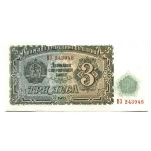 3 лева 1951 г. Болгария