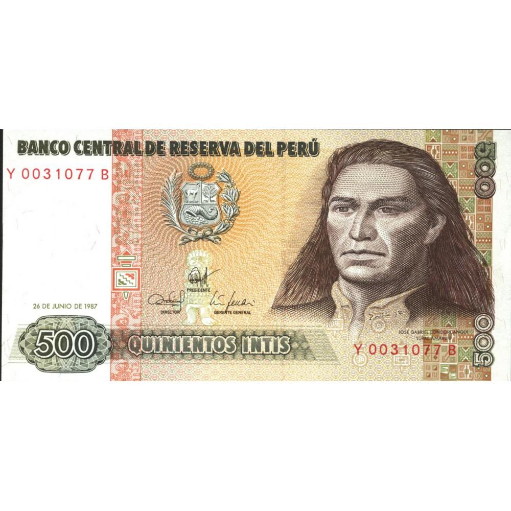 500 инти 1987 г. Перу