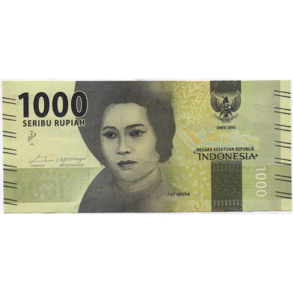 1000 рупий 2016 г. Индонезия