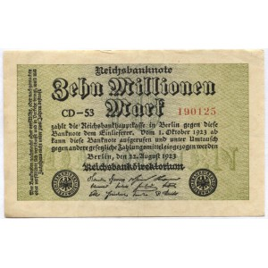 10000000 марок 1923 г. Германия