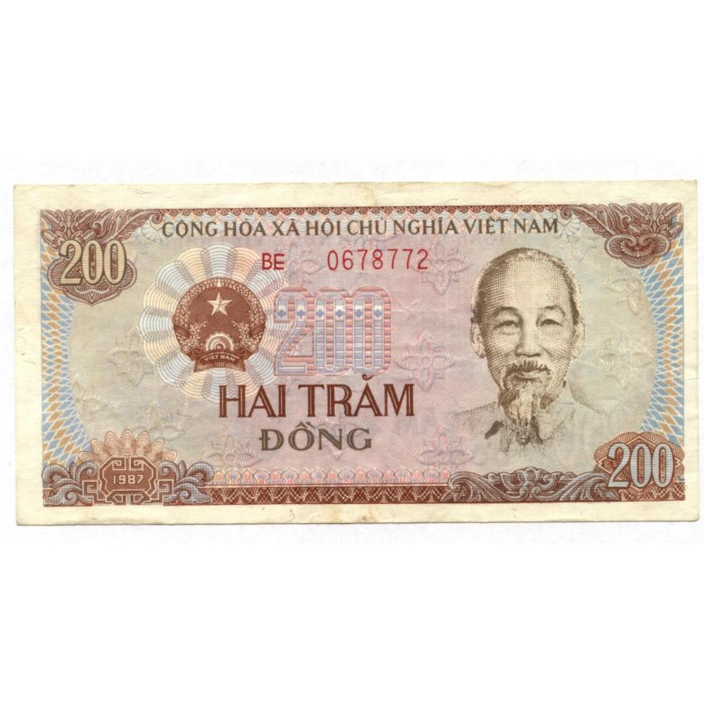 200 донгов 1987 г. Вьетнам
