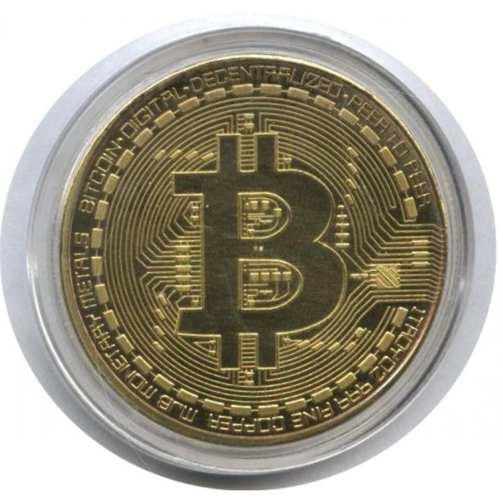 Сувенирная монета. Биткоин