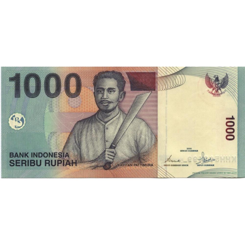 1000 рупий 2000 г. Индонезия