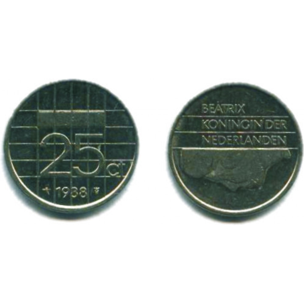 25 центов 1988 г.