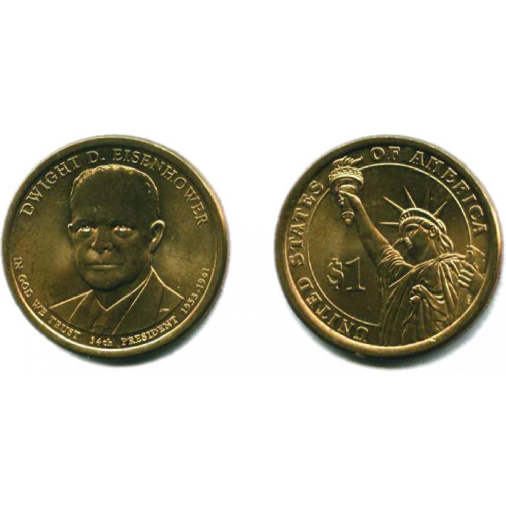1 доллар 2015 г. Эйзенхауэр