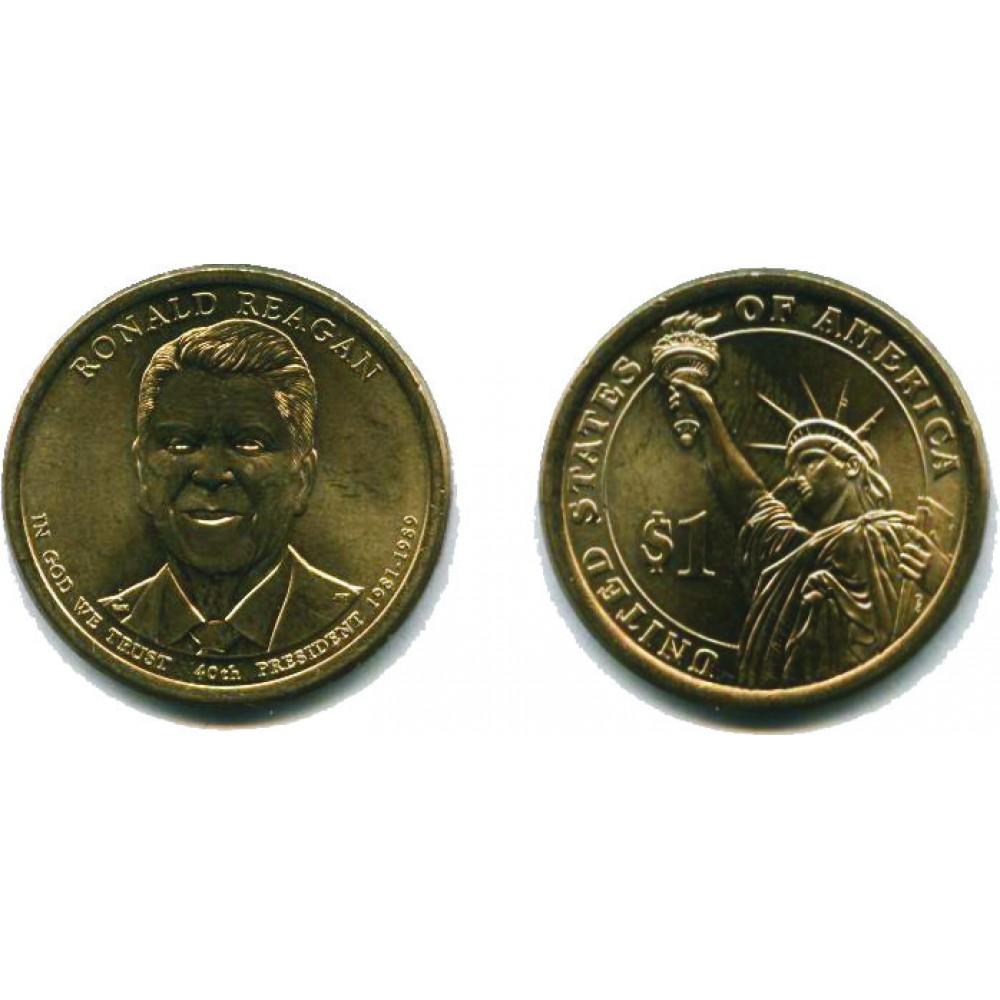 1 доллар 2016 г. Рейган