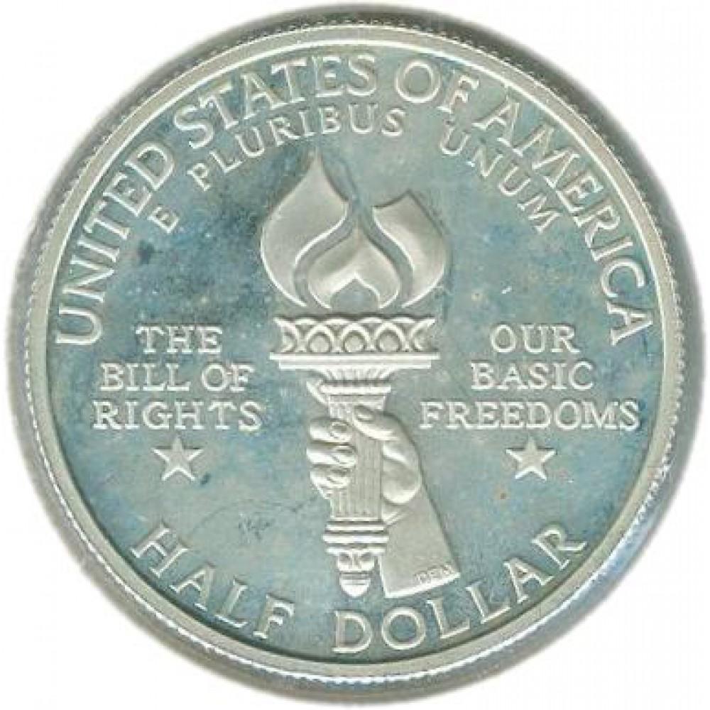 1/2 доллара 1993 г. Билль о правах, Джеймс Мэдисон